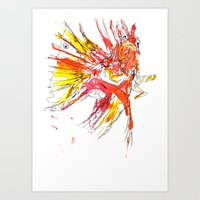 Ink Lionfish Art Print