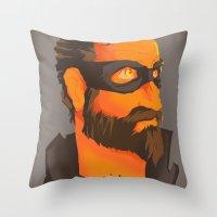 THE CITY HERO Throw Pillow