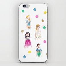 Mermaid girl beach towel iPhone & iPod Skin