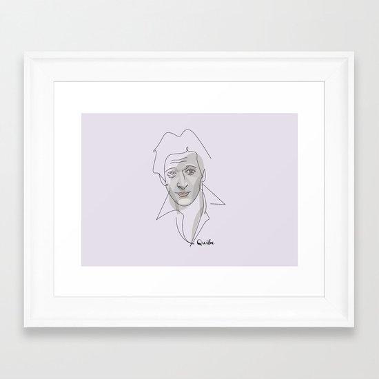 Portrait: Adrien Brody Framed Art Print