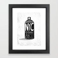 NYC 1972 Framed Art Print