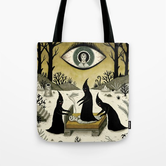 Three Shadow People Terrify a Victim During an Episode of Sleep Paralysis Tote Bag