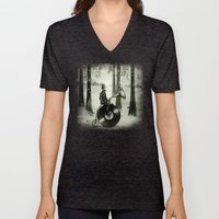 Music Man In The Forest,… Unisex V-Neck