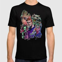 Guardians Of The Galaxy Mens Fitted Tee Black SMALL