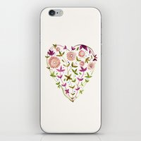 GARDEN HEART - PURPLE iPhone & iPod Skin