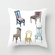 Chairs Number 2 Throw Pillow