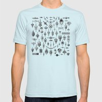 Jewels and Trinkets Mens Fitted Tee Light Blue SMALL