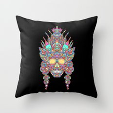 Eternal Death and her family/ Eternal Life and her family in the mirror of creation  Throw Pillow