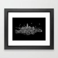 Indianapolis, Indiana City Skyline Framed Art Print
