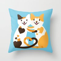 Lovecats Throw Pillow