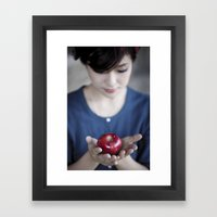 Apple, My Sweet? (Snow W… Framed Art Print