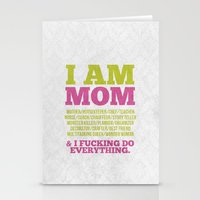 I am Mom Stationery Cards