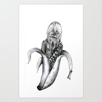 Chewbacca banana Art Print