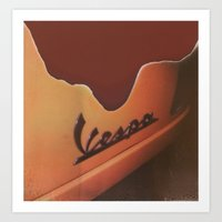 Vespa Art Print