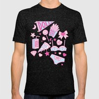 Girl Power Mens Fitted Tee Tri-Black SMALL
