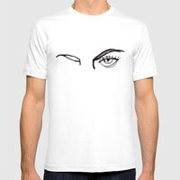 Inked Eyes Mens Fitted Tee White SMALL