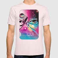 Chill Out Mens Fitted Tee Light Pink SMALL