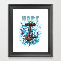 Hope Is My Anchor Framed Art Print