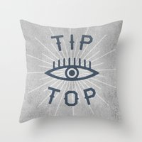 Tip Top Throw Pillow