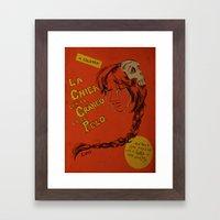 La Chica con el Craneo en el Pelo: The Girl With a Skull In Her Hair Framed Art Print