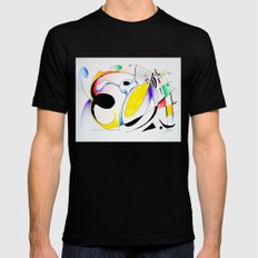 Shapes-1 SMALL Black Mens Fitted Tee