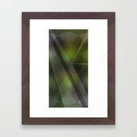 Emerald Monolith Framed Art Print