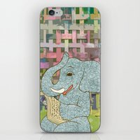 Elephant Reading iPhone & iPod Skin