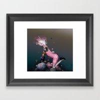 Pink Rubbergum Framed Art Print