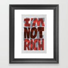 Newt's Not Rich Framed Art Print