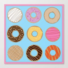 donuts. Canvas Print
