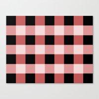 Pink squares Canvas Print