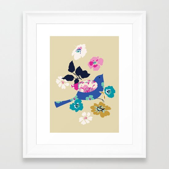 Birds and Blooms 2 Framed Art Print