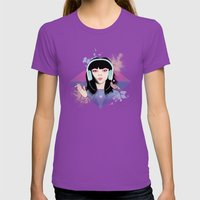 Marianne Renoir Womens Fitted Tee Ultraviolet SMALL