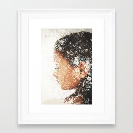 Mrs. Cold Framed Art Print