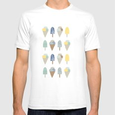 ice cream pattern  SMALL White Mens Fitted Tee