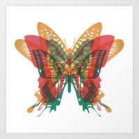 Butterfly Rorschach, Ya … Art Print