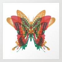 Butterfly Rorschach, Ya Know, For Kids! Art Print