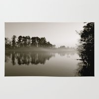 Misty Lake B&W Rug