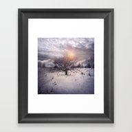Lone Tree Love II Framed Art Print