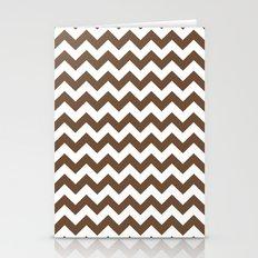 Chevron (Coffee/White) Stationery Cards