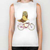 Owl Bicycle Biker Tank