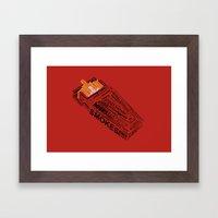 Cigarette? Framed Art Print