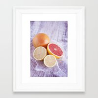 Cítricos II Framed Art Print