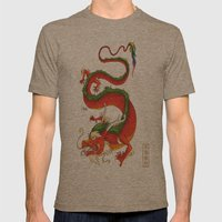 Year of the Dragon Mens Fitted Tee Tri-Coffee SMALL