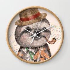 Mr.Sloth Wall Clock