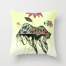 Uprooted Flowers Throw Pillow