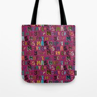 Pink Merry Christmas And… Tote Bag