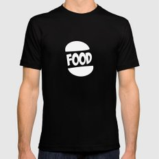FOOD logo fun generic food logo Mens Fitted Tee Black SMALL