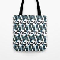Black Blue Cat Stretchin… Tote Bag