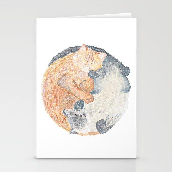 Yin Yang Cats Stationery Card
